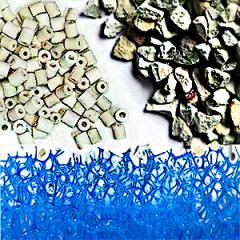 Vízszűrő anyagok, szivacsok, kőzetek