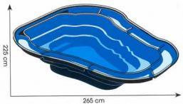 Ubbink Tavacska Óceán II 2000l 225x265x80cm üvegszálas / 1311040