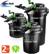 Aqua-Tech FIL-Reset 15000 nyomásszűrő + 24 W -os UVC előtisztító / DM001500