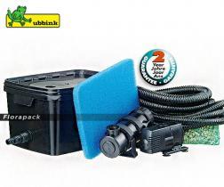 Ubbink FiltraPure 2000 Plus gravitációs, átfolyós szűrő szett / szűrő + Xtra 900 + 5W UV-C / 1355966