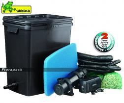 Ubbink FiltraPure 7000 Plus gravitációs, átfolyós szűrő szett szűrő + Xtra 2300 + 11 W UV-C / 1355972