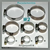 Tömlőbilincs 16-25/12mm W2 - rozsdamentes / 100406